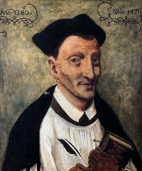 A retrieved photo of the well-know classical Christian writer, Thomas à Kempis.