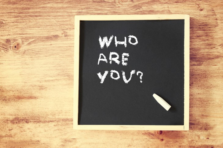This image asks the question that gets at the core of personal branding: who are you?