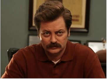 Ron Swanson, played by Nick Offerman, is famous for his Copstash standard.
