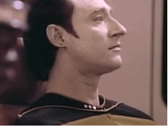 Data from Star Trek the Next Generation with Federation style sideburns.