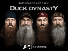 The Duck Dynasty crew has full beards, a style they've revived.