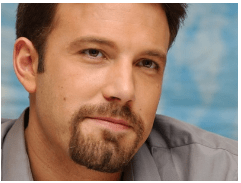 Ben Affleck wore a goatee for quite some time.