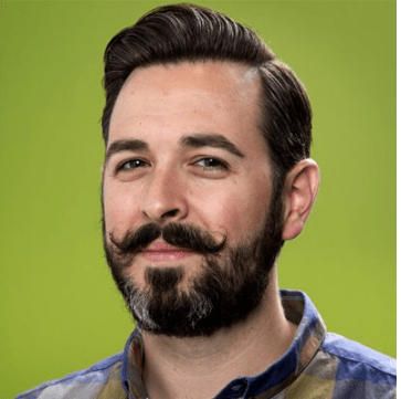 Rand Fishkin with a handlebar mustache, a look he's known for.