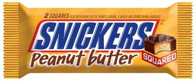 Snickers Peanut Butter squared candy.