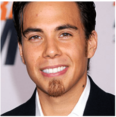 Apolo Anton Ohno with the soul patch facial hair.