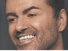 George Michael often had stubble on his face.