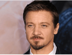 Jeremy Renner with the Van Dyke facial hair style.