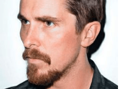 Christian Bale with the Van Dyke style facial hair.