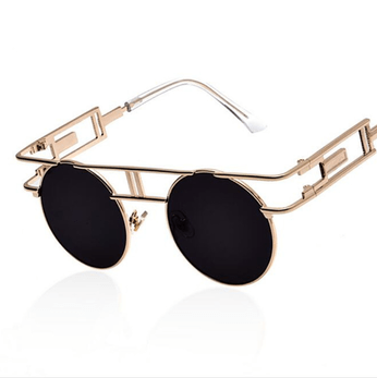 The vintage steampunk sunglasses from Top Tier.