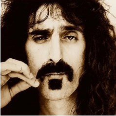 Frank Zappa with his famous Zappa facial hair.